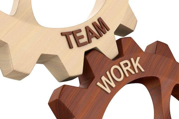 Teamarbeit auf weiß.