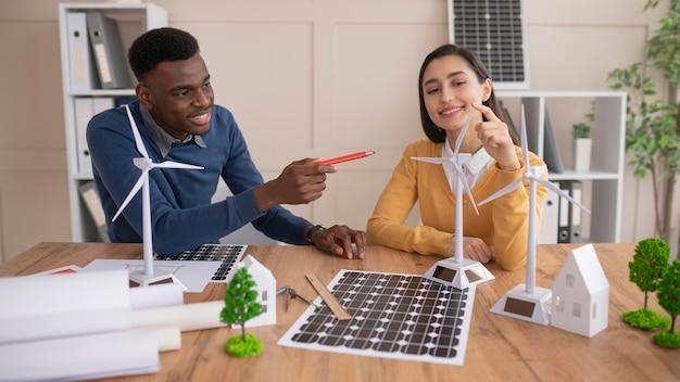 Teamarbeit für umweltprojekt