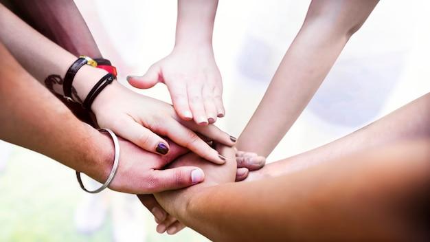 Teamarbeit und unterstützung