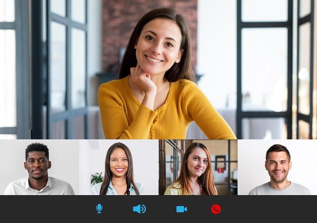 Teambesprechung online-telefonkonferenz