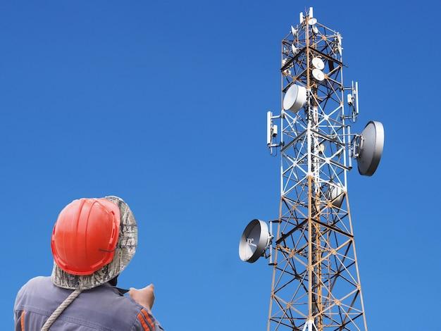Techniker kommunikation turm