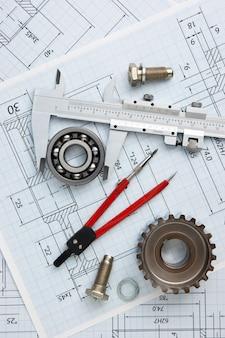 Technische zeichnung und werkzeuge