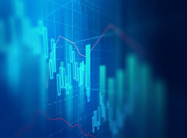 Technisches finanzdiagramm auf abstraktem hintergrund der technologie