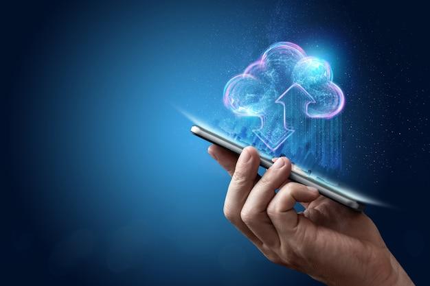 Technologie blockchain abstrakter hintergrund