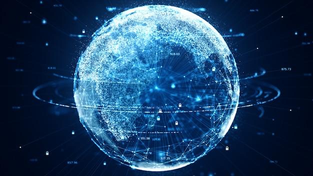Technologie-daten-binärcode-netzwerk, das konnektivität vermittelt