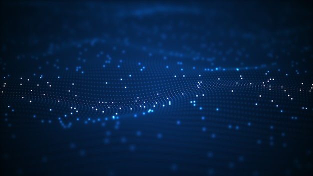 Technologie digitale welle hintergrund