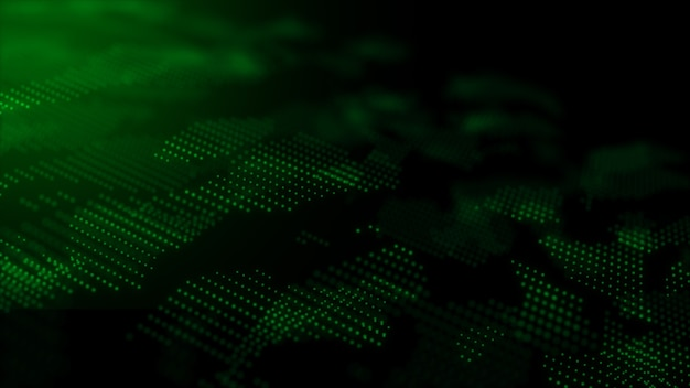 Technologie digitaler partikel dynamischer abstrakter hintergrund