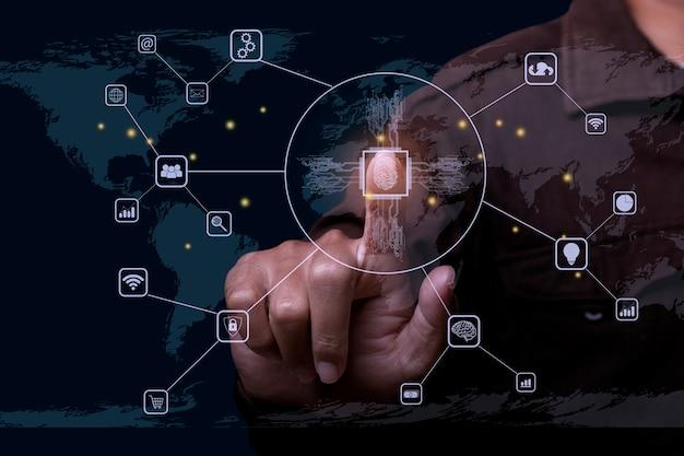Technologie-fingerabdruck-scan bietet sicherheit
