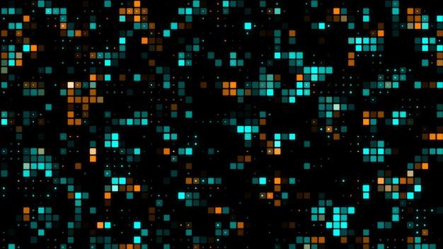 Technologie geometrischer abstrakter hintergrund 3d-rendering