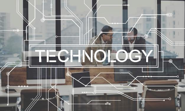 Technologie-innovations-evolution-lösung digitales konzept