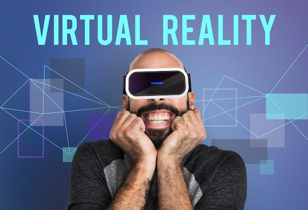 Technologie-innovations-simulations-gadget-konzept