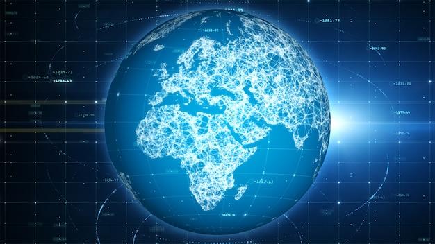 Technologie-netzwerk daten- und social-media-symbole verbindung, digitales netzwerk und cybersicherheitskonzept.