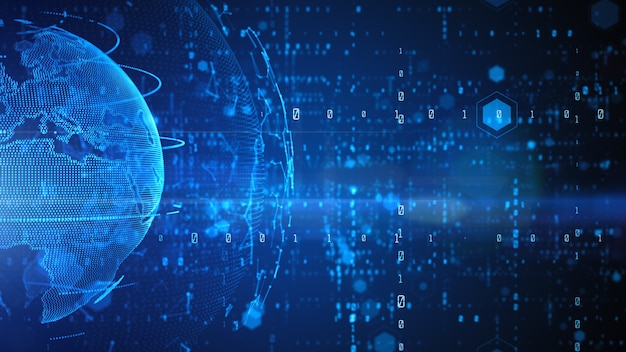 Technologie netzwerk datenverbindung, cyber security digitale daten