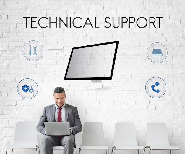 Technologie technische unterstützung reparaturkonzept