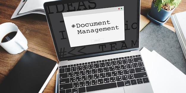 Technologie zur verwaltung von dokumenten zur online-datenspeicherung