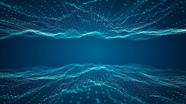 Technologieverbindung digitales big-data-konzept.