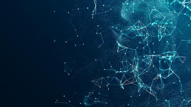Technologieverbindung digitales daten- und big-data-konzept
