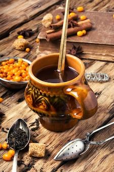 Tee mit sanddorn