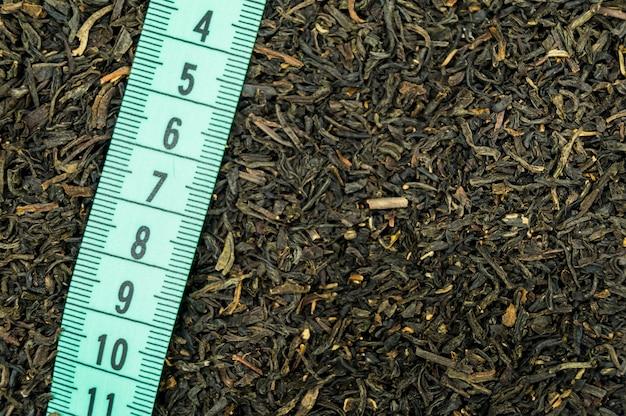 Tee-teller und lineal zum abnehmen