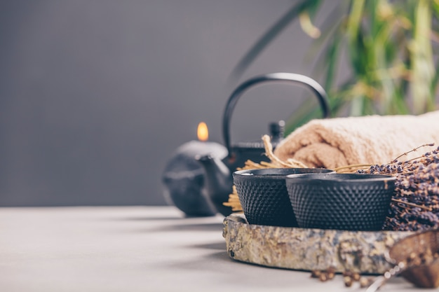 Tee- und spa-zusammensetzung