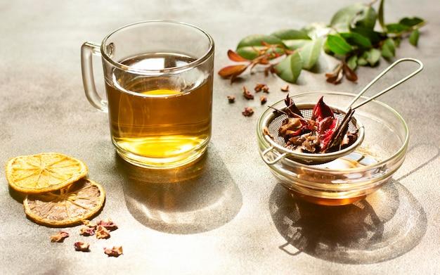 Tee wintergetränk hohe sicht
