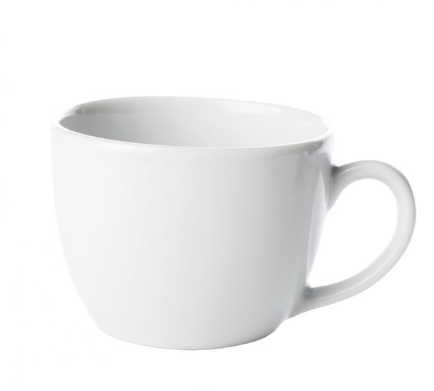 Teebecher lokalisiert auf weiß