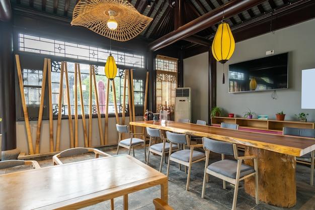 Teehaus des restaurants im klassischen chinesischen architekturstil