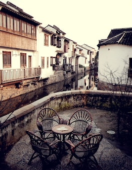 Teehaus des traditionellen chinesen in suzhou, china.