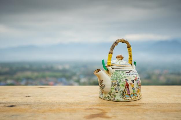 Teekanne im chinesischen stil