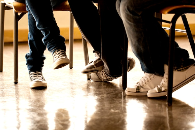 Teenager beine