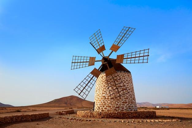 Tefia-windmühle fuerteventura in kanarischen inseln
