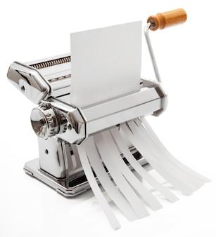 Teigmaschine, die papier zerkleinert