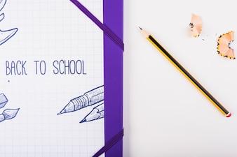 Teil der Illustration mit Bleistift