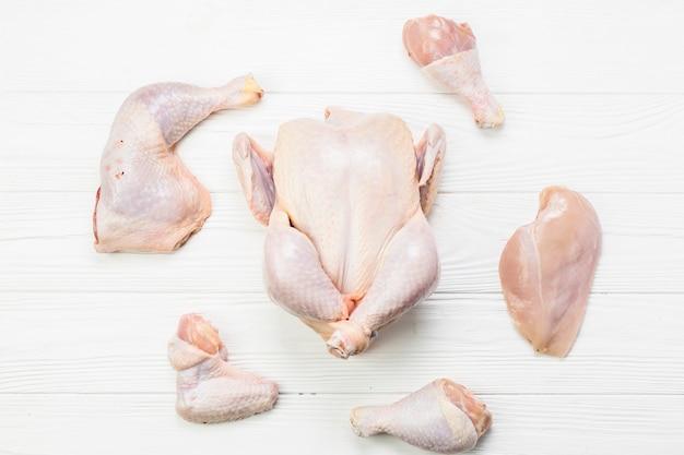Teile von hühnern
