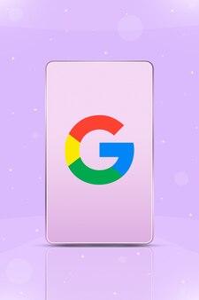 Telefon mit instagram-logo-symbol auf dem bildschirm 3d