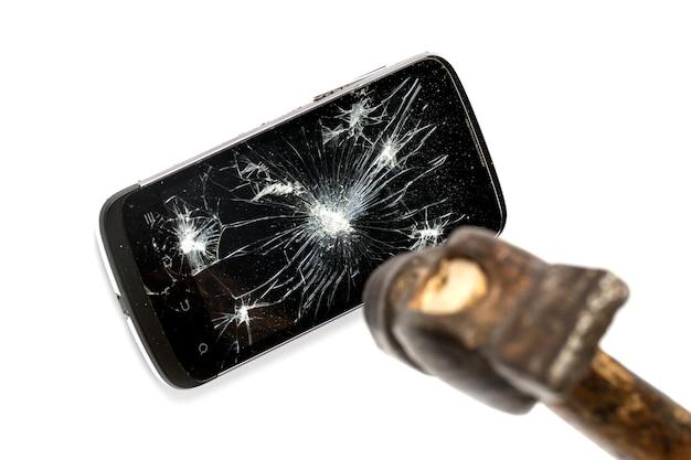 Telefon und hammer