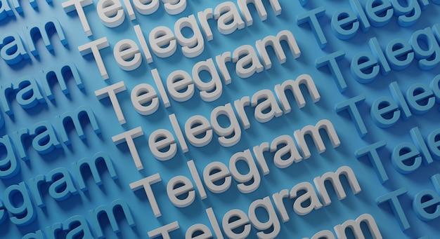 Telegramm multiple typography auf blue wall