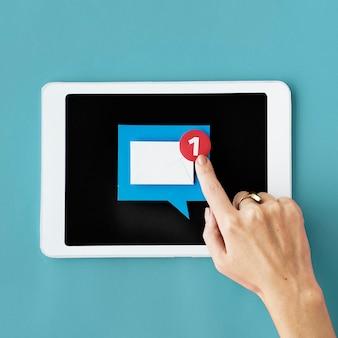 Telekommunikations-digital-gerät-vernetzungs-konzept