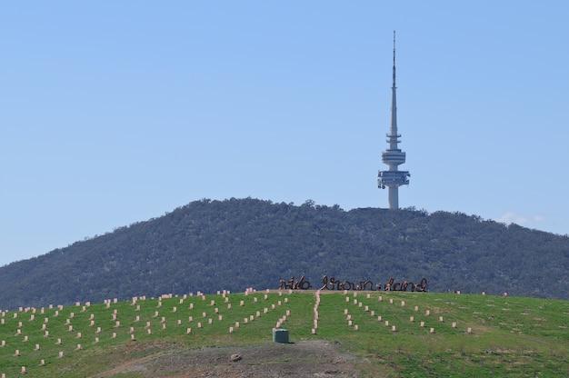 Telstra-radio-fernsehturm in canberra australien