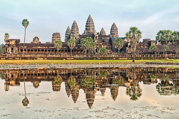 Tempel angkor wat, siem reap, kambodscha.