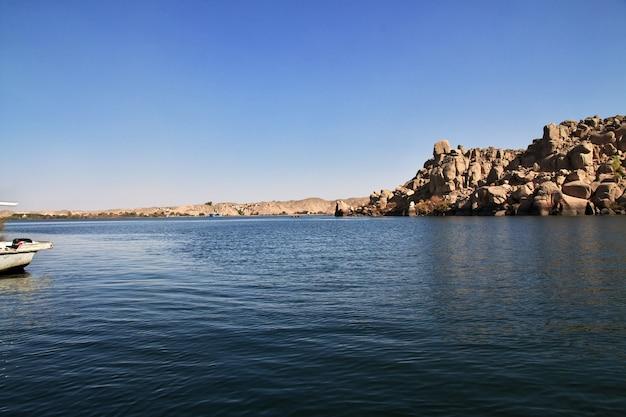 Tempel der isis auf der insel philae in ägypten