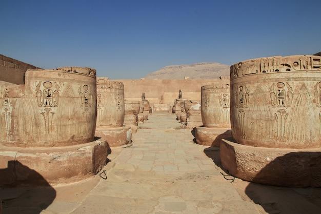 Tempel des medinet habu in luxor
