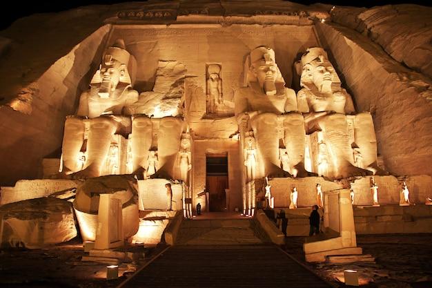 Tempel in abu simbel, ägypten