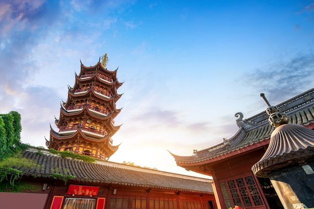 Tempel und pagode