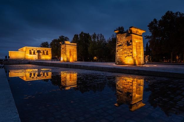 Tempel von debod in madrid, spanien.