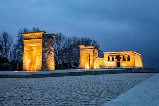 Tempel von debod in madrid