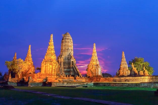 Tempel wat chaiwatthanaram der provinz ayutthaya