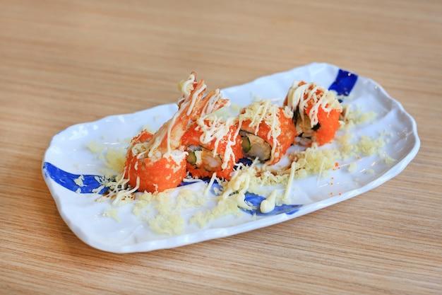 Tempura roll, traditionelles japanisches essen.