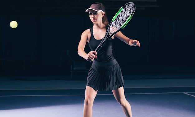 Tennisspielerin während eines spiels
