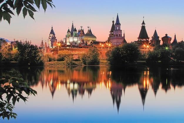 Teremki vom izmailovsky kreml in izmailovo in moskau